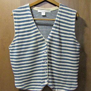 Marine Blue and Navy Blue Sweater Vest